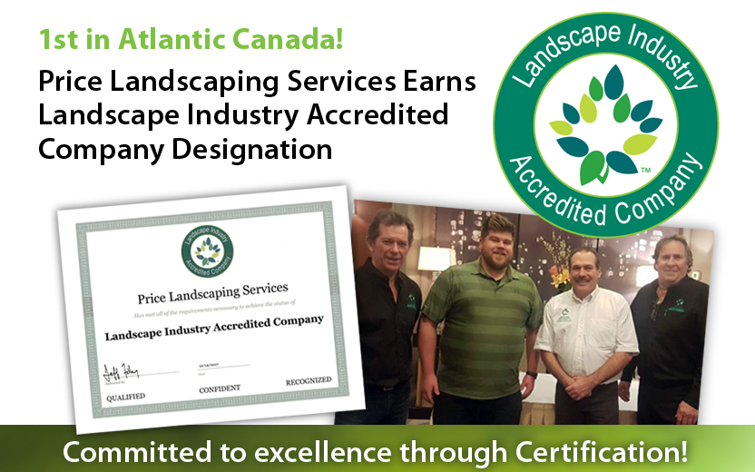 Price Landscaping-Landscape Industry Accredited Company